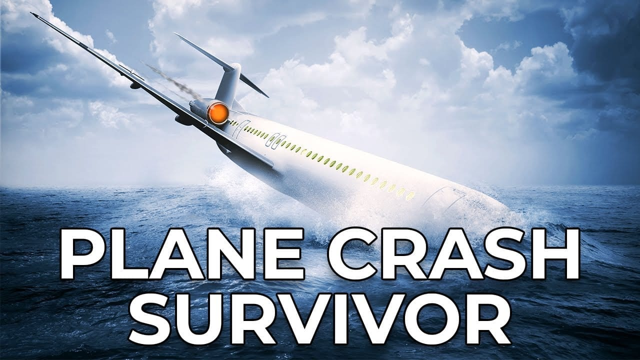 A plane crashing and plunging into the sea