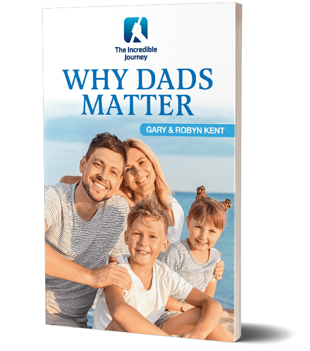 A book with a family photo in the cover