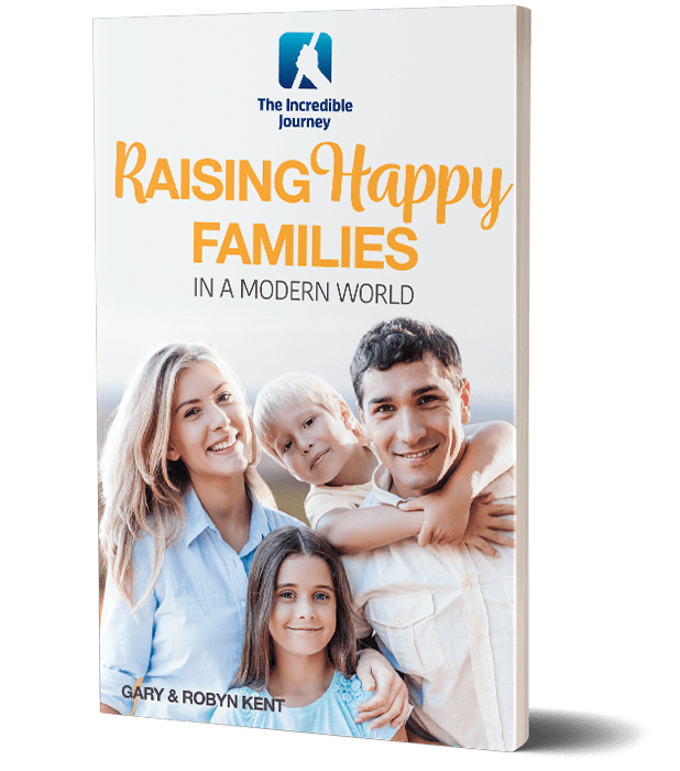 Happy and satisfied family with 2 children