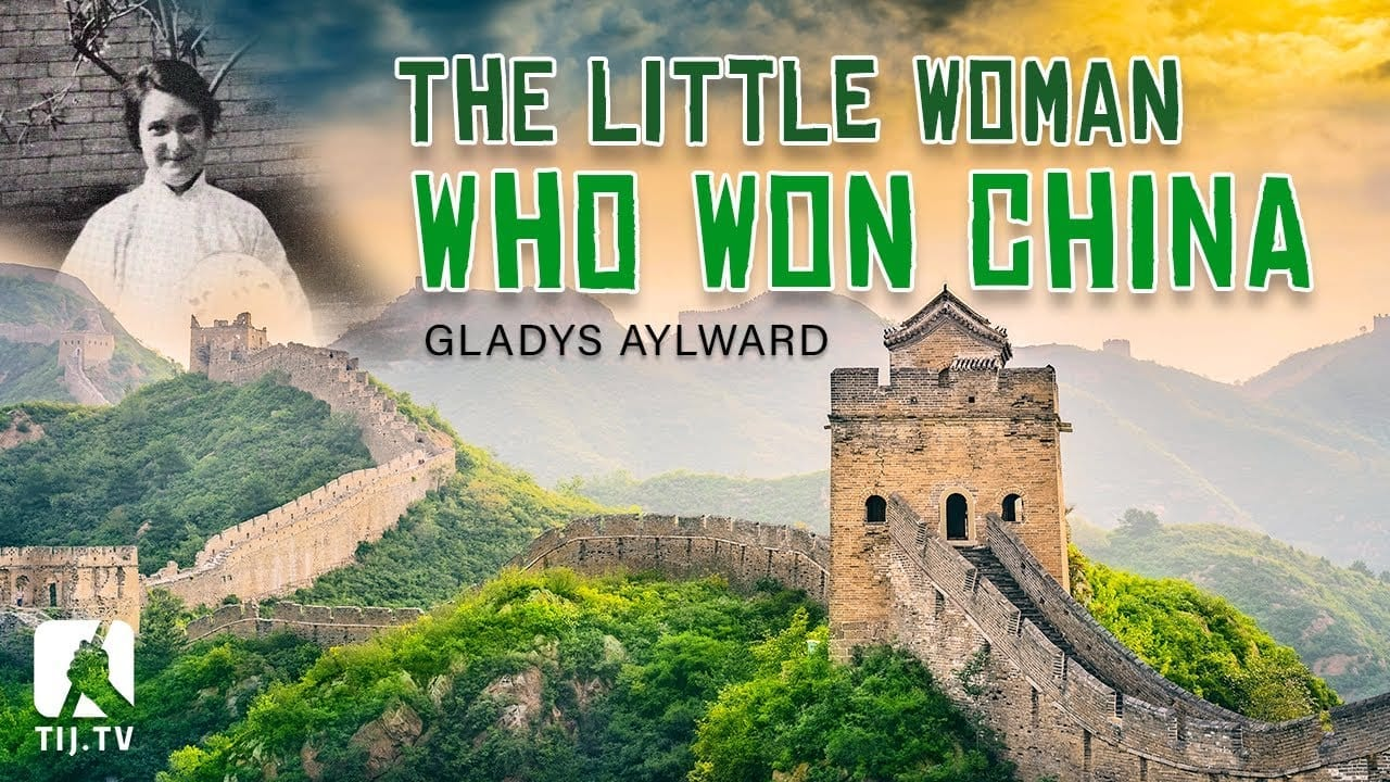 The great wall of China and a photo of Missionary Gladys Aylward